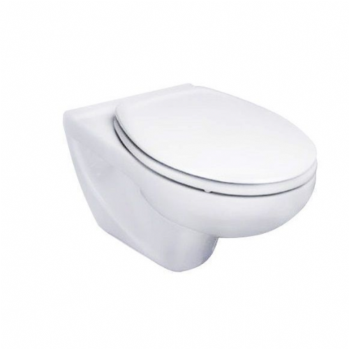 Roca Laura Wall Hung Toilet - Standard Seat - White
